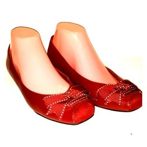 American Eagle red flats size 8